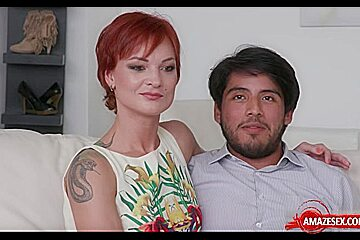 Redhead wife sex with cumshot