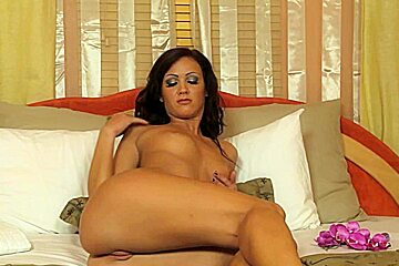 fucking her snatch with a dildo