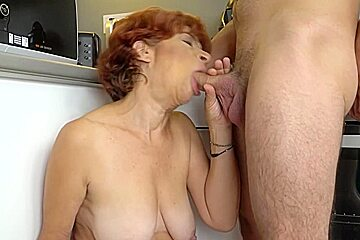 Sexy granny gets fucked with hard dick