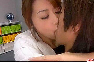 Maki Hojo tries cock in her - More at Japanesemamas.com