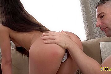 Slim Teenage Babe Fucked in the Ass