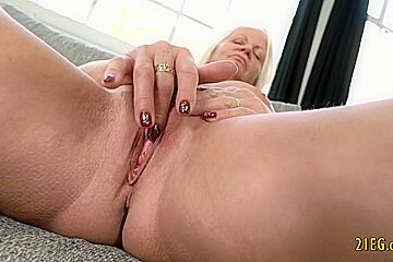 Busty mature blonde sucks and fucks