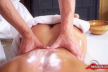 Sexy pornstar blowjob and massage