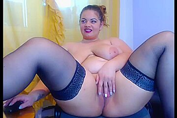 Busty squrit on webcam - part 1