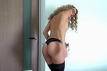 Blonde squirt on webcam - part1