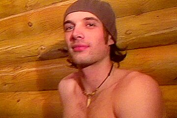 Boyfrend playing with 2 sexy college strumpets in the sauna
