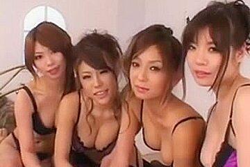 Haruka Sanada Hikari Hino Nao & Nao three Engulfing and Cum Exchange
