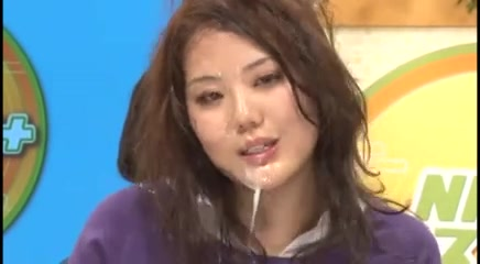 Japanese bukkake newscast