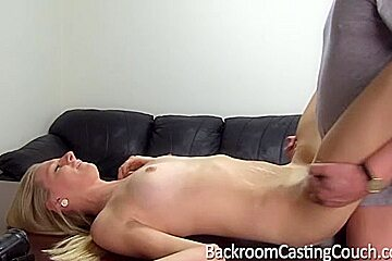 Ugly blonde with small tits got her ass rammed