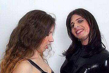 Jana Puff in FunMovies video:StrapOn Sluts