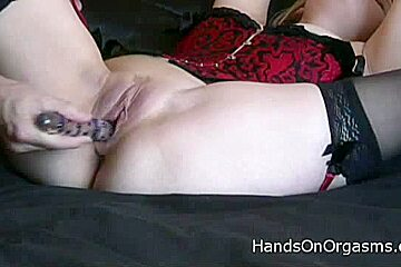 HandsOnOrgasms Video: Cameron Amor Red Corset