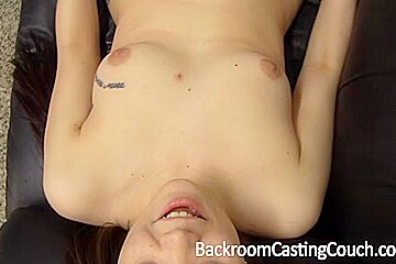 Young slutty chick gets a massive facial on her first xxx casting