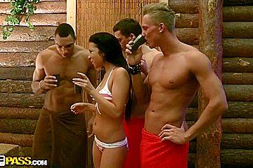 Highly hard fuck in a sauna
