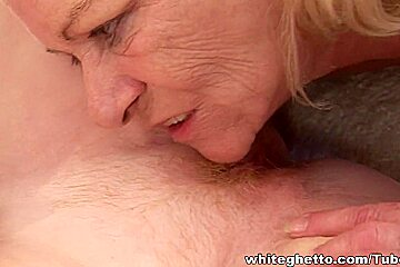 Blonde lesbian grannies make out like slutty chicks