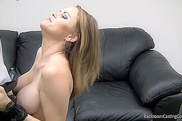Big-breasted bitch gets fucked and given a hot facial