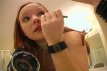Showing my assets while putting on makeup