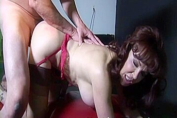 Next Door Mommies: Old guy sucked by an old big breasted wo