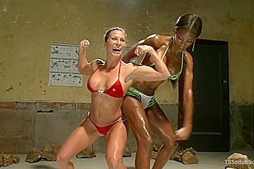 Female Body Building Competition Stalker Ass Fucked for being Creepy