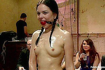 THE LAST LAUGH Audience of 70 Humiliates Juliette March Giggling Tight Bodied Whore
