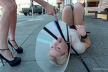 Squirting Blond Fuck Puppy is Eager to Please from her Hands and Knees