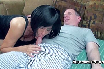 Brunette MILF Melissa Swallows is getting fucked