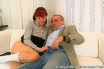 Stefany finds out that one way to get your homework done on time is to fuck the teacher
