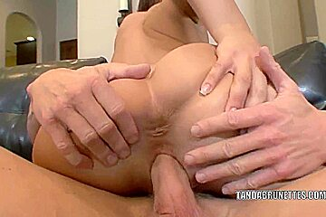Petite coed Haley Sweet is getting fucked in the ass