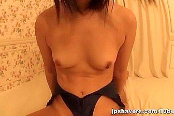 Pretty Tokyo babe Miyu Nakatani enjoys pussy teasing