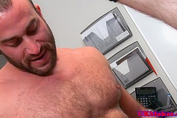 English knob jockeys office desk bum sex