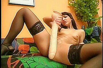 AnnaMari's Long White Dildo Sex