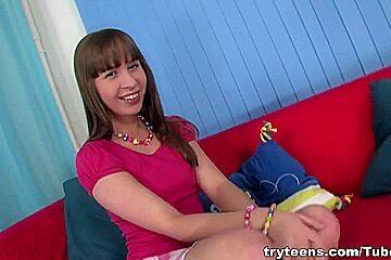 Cute teen schoolgirl has hard anal sex with big dick