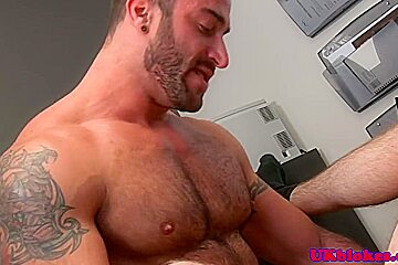 Muscled Spencer Reed anal boinking