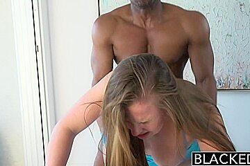 BLACKED 18 Year Old Jillian Janson Addicted to Black Cock