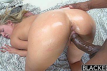 BLACKED Preppy Blonde Scarlet Red Loves Big Black Dick