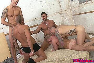 Big british queers group bj and rimming