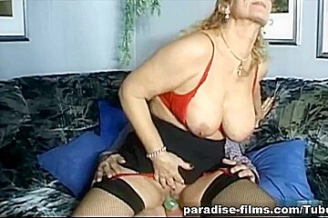 Paradise-Films Video: Mature Blonde Bends Over
