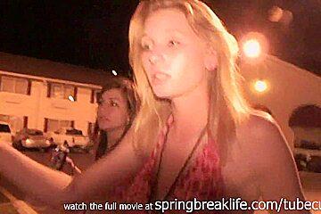 SpringBreakLife Video: Drunk Girls Flashing