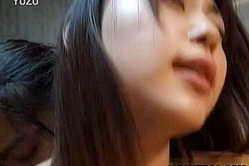 Cute slim Asian teen sucks cock and gets fucked in school classroom