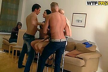 Wild college orgy with Kamila and Marya