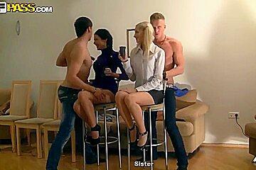 Wild college orgy with Kamila and Marya