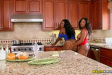 Preston worships ebony asses of Jayden and Yasmine