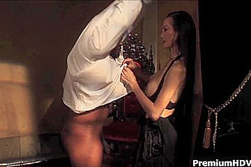 Skinny asian milf Ange Venus takes on black cokc