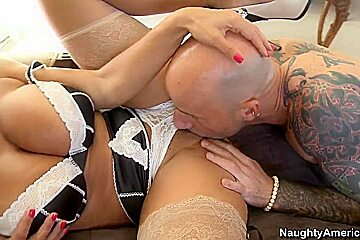 Lisa Ann found handsome son of her lover visiting his house