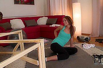 Young babe Sophie Lynx enjoys erotic massage