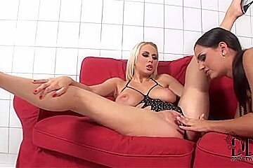 Eve Angel and Mandy Dee licking and fingering