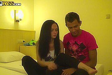 Amateur girl reaches the climax of her emotional tension