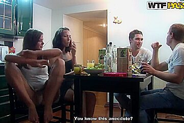 Awesome college sex party during a hot weekend