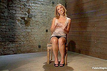 Hottie stuck in Cage