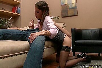 Sexy milf Angel gets Johnny Sins's big cock in her holes