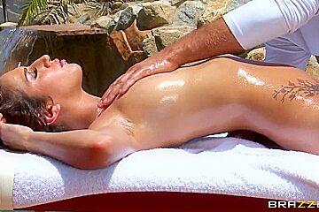 April O'neil enjoys in hot massage by Keiran Lee